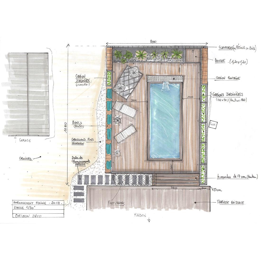 plan paysagiste terrasse piscine