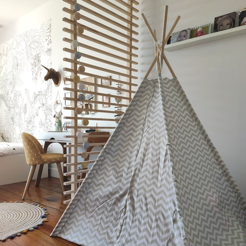 tipi gris chambre fille